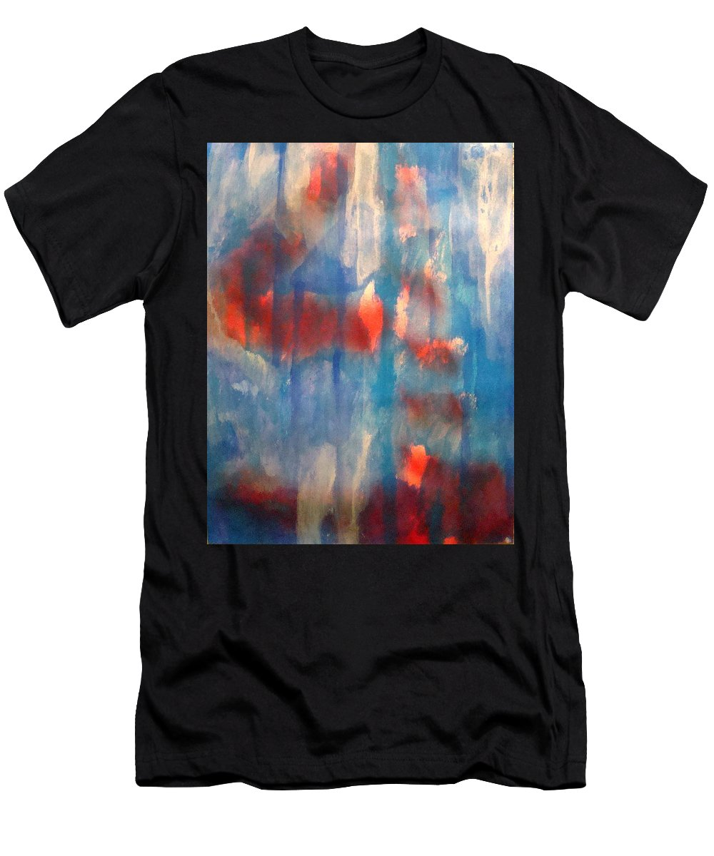Christian Men's T-Shirt (Athletic Fit) featuring the painting On A Clear Day - Red Forever by W Todd Durrance