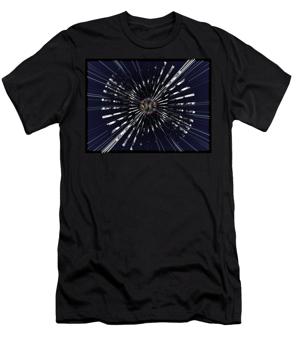 Abstract Men's T-Shirt (Athletic Fit) featuring the digital art On Beyond Anon by Tim Allen
