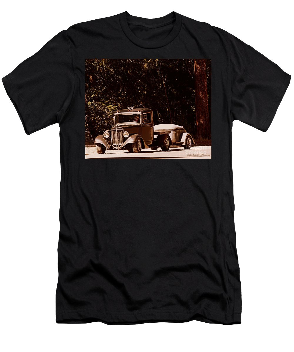 Acrylic Prints Men's T-Shirt (Athletic Fit) featuring the photograph On The Road Again by Bobbee Rickard