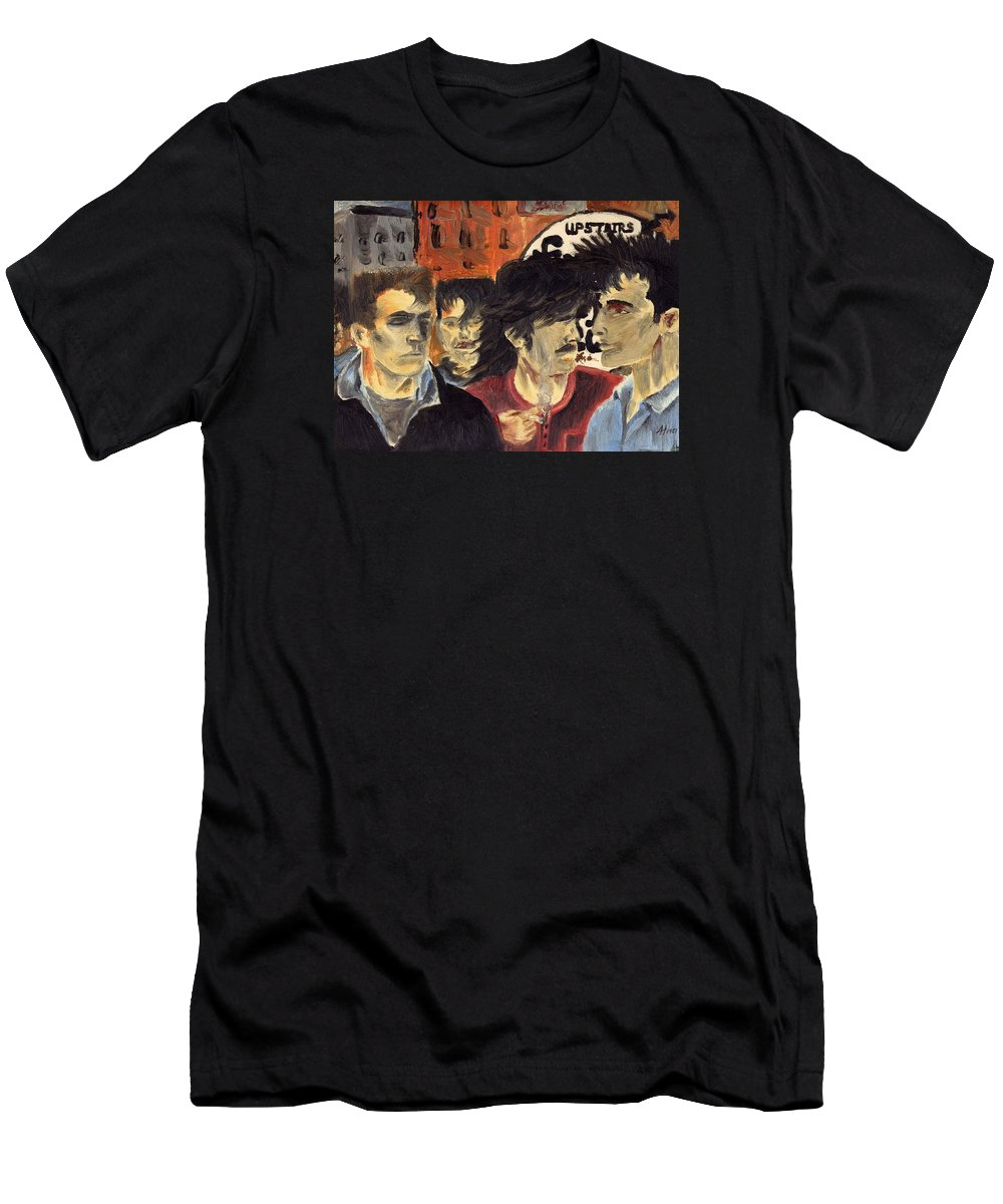 Eighties Men's T-Shirt (Athletic Fit) featuring the painting On The Street by Alan Hogan