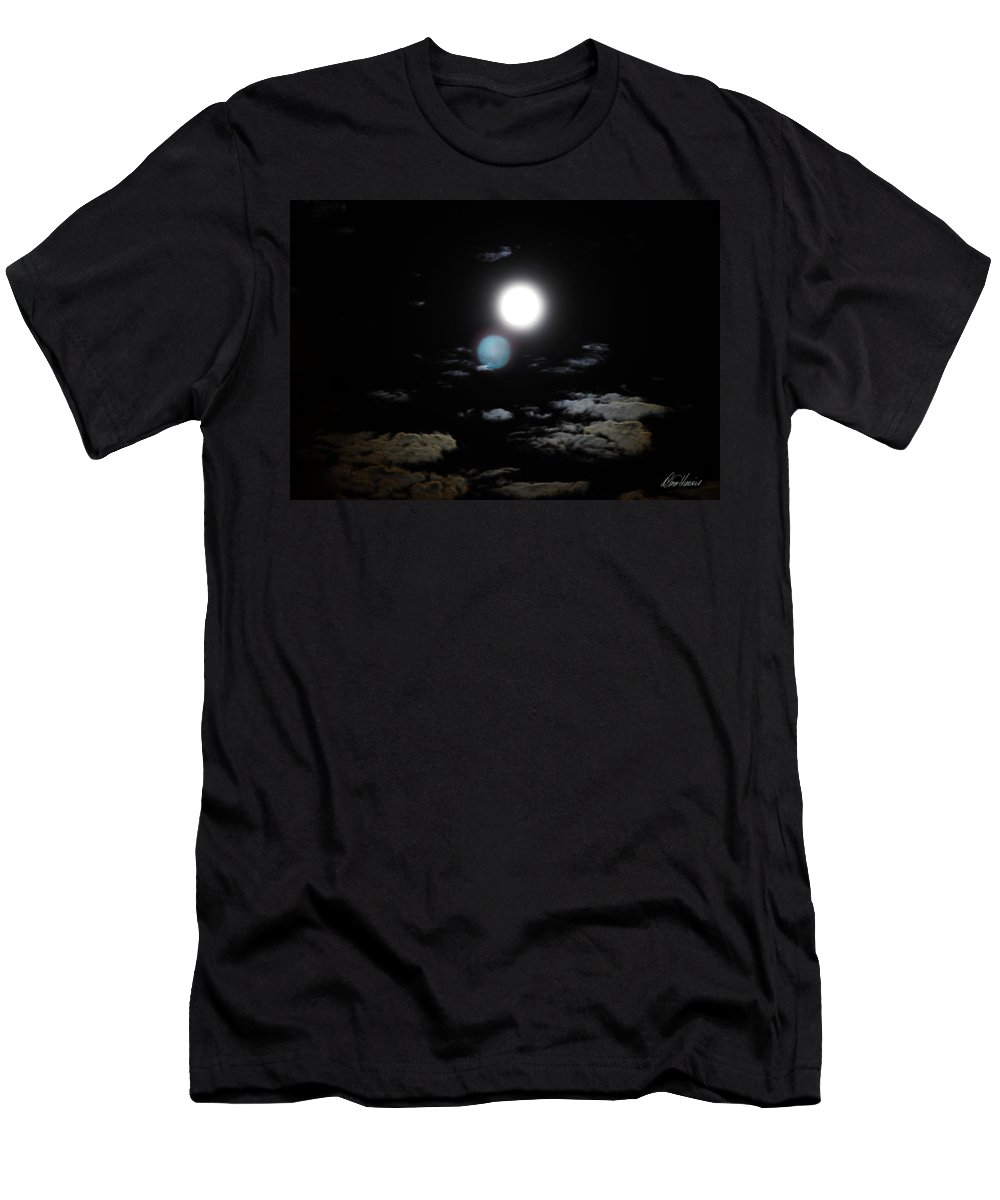 Blue Men's T-Shirt (Athletic Fit) featuring the photograph Once In A Blue Moon by Diana Haronis