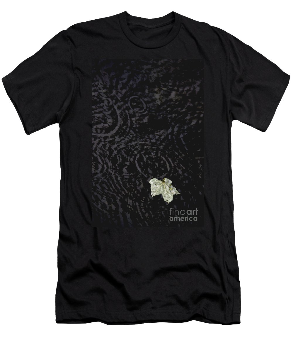 Outside Men's T-Shirt (Athletic Fit) featuring the photograph One Fallen Leaf by Margie Hurwich