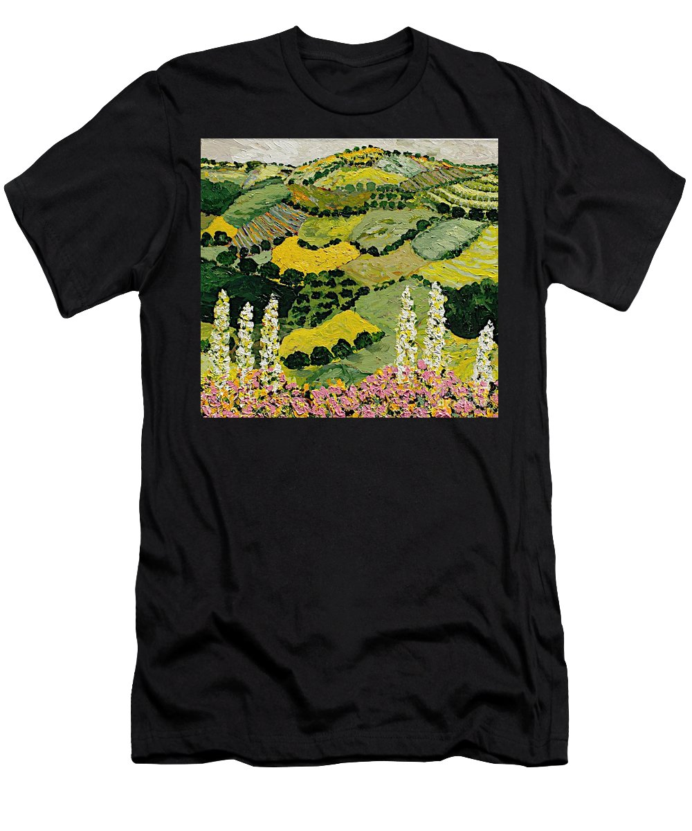Landscape Men's T-Shirt (Athletic Fit) featuring the painting One More Smile by Allan P Friedlander