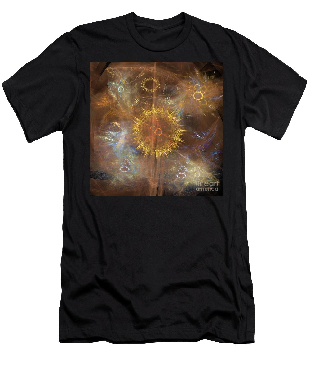 Lord Of The Rings Men's T-Shirt (Athletic Fit) featuring the digital art One Ring To Rule Them All - Square Version by John Beck