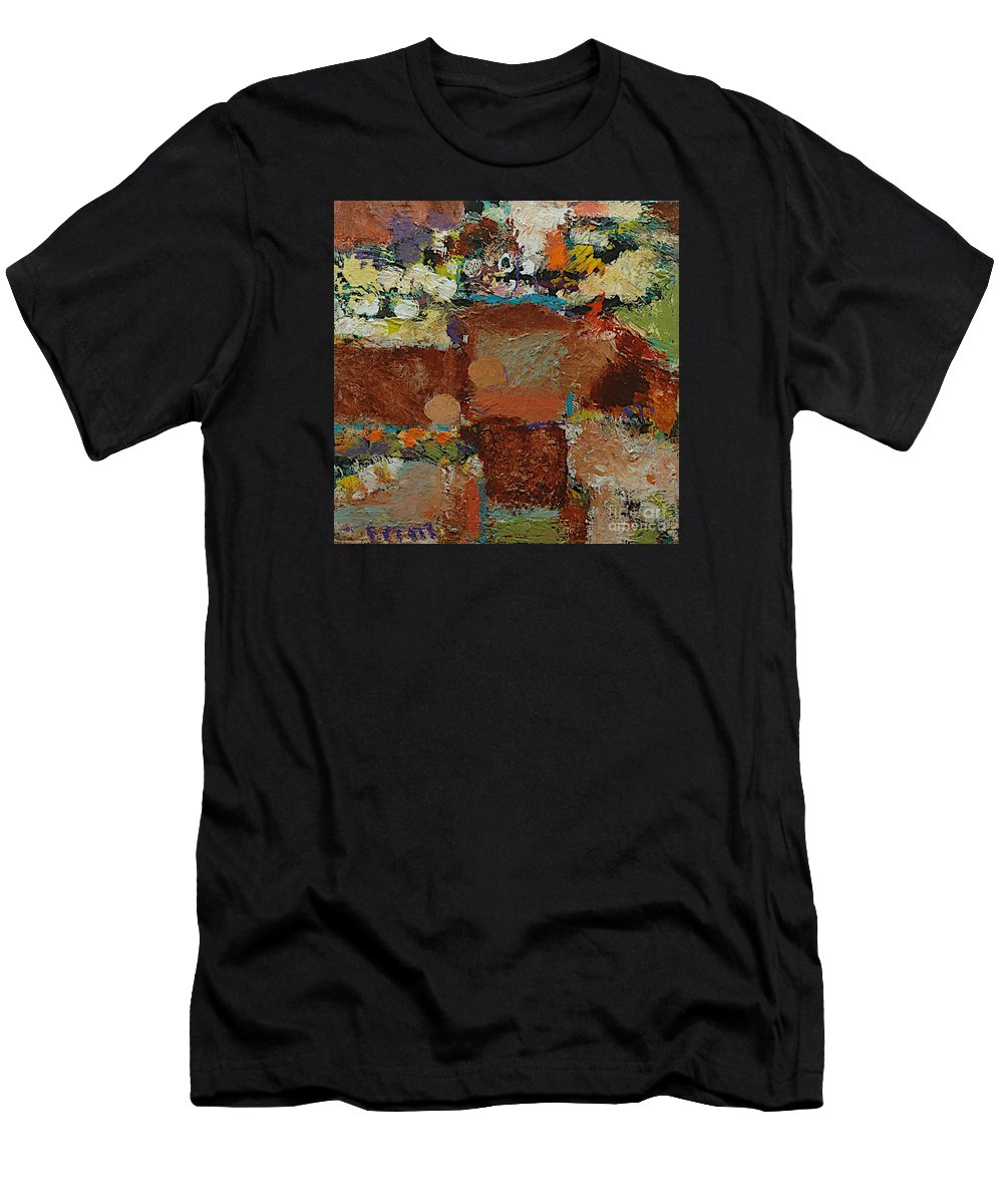 Landscape Men's T-Shirt (Athletic Fit) featuring the painting One Way by Allan P Friedlander