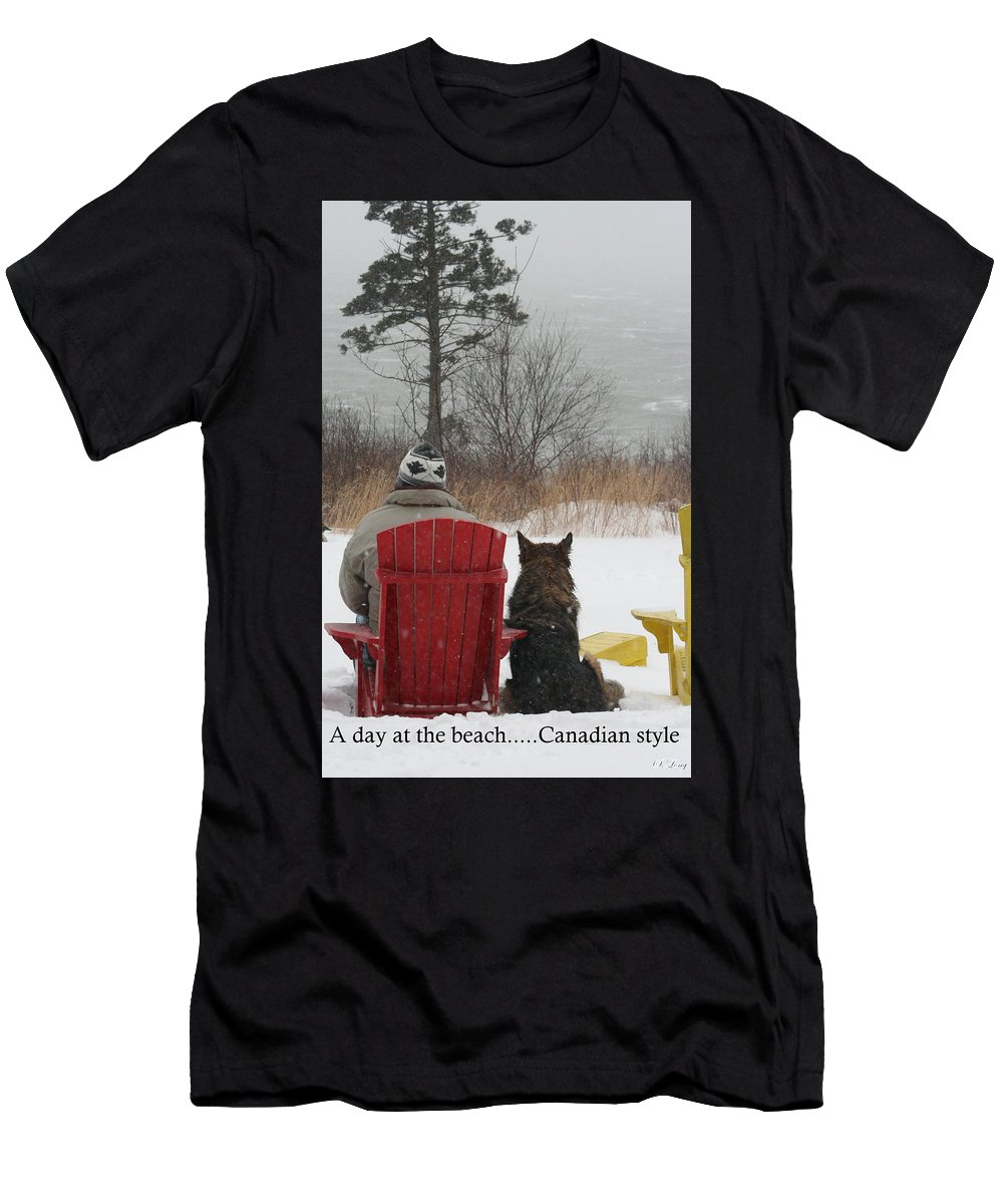 Funny Photograph T-Shirt featuring the photograph Only In Canada by Sue Long