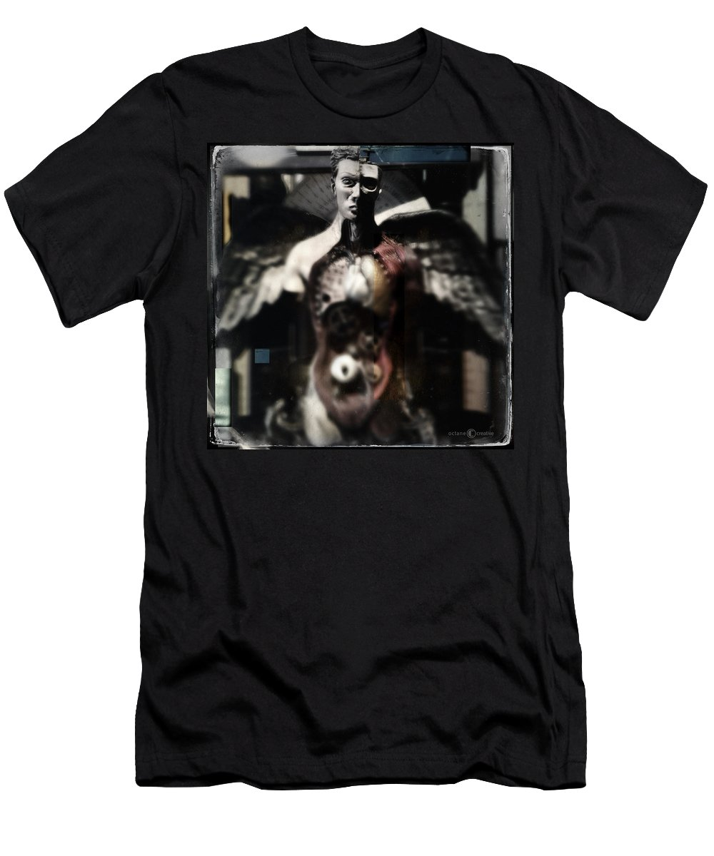 Man Men's T-Shirt (Athletic Fit) featuring the photograph Open Wingz by Tim Nyberg