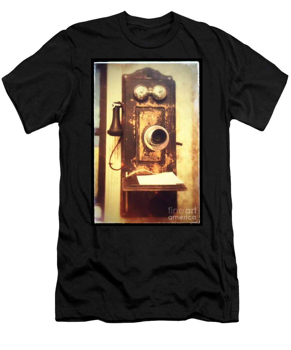 Phone Men's T-Shirt (Athletic Fit) featuring the photograph Operator Will You Please Connect Me by Carol Groenen