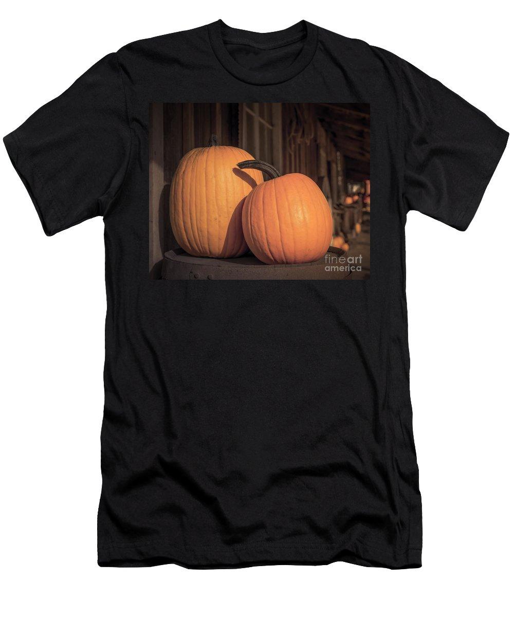 Art Men's T-Shirt (Athletic Fit) featuring the photograph Orange Pumpkins by Lucid Mood
