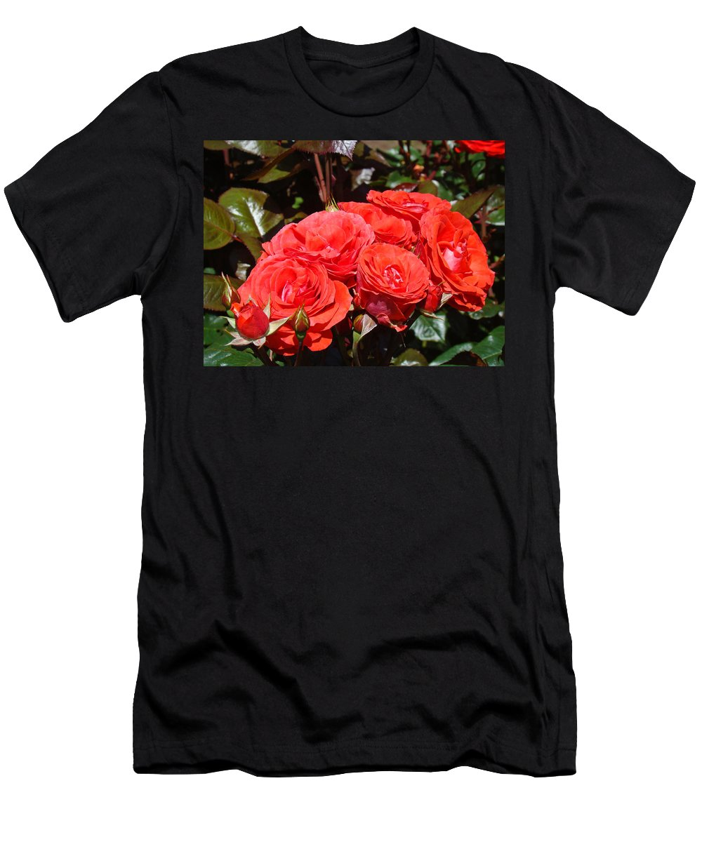 Rose T-Shirt featuring the photograph Orange Roses Bouquet Floral Art Photography by Patti Baslee