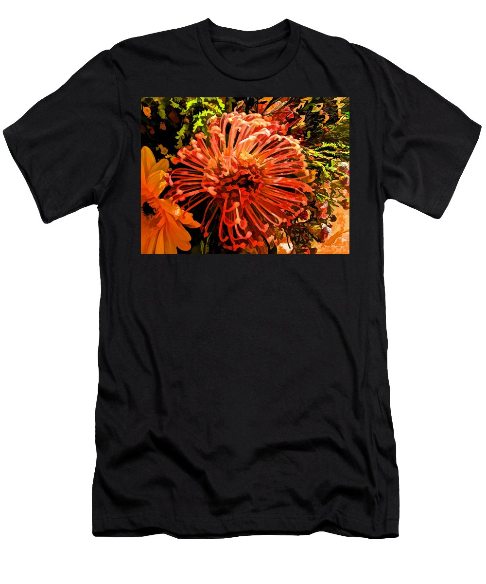 Floral Men's T-Shirt (Athletic Fit) featuring the photograph Orange Spice Floral by Joan Minchak