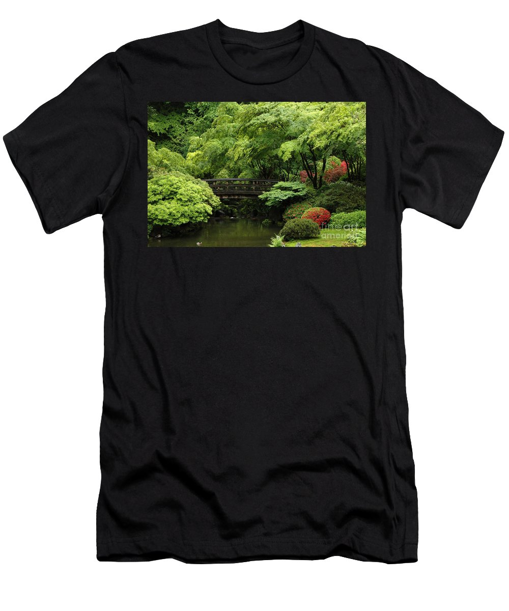 Men's T-Shirt (Athletic Fit) featuring the photograph Oregon Japanese Garden by Mike Nellums