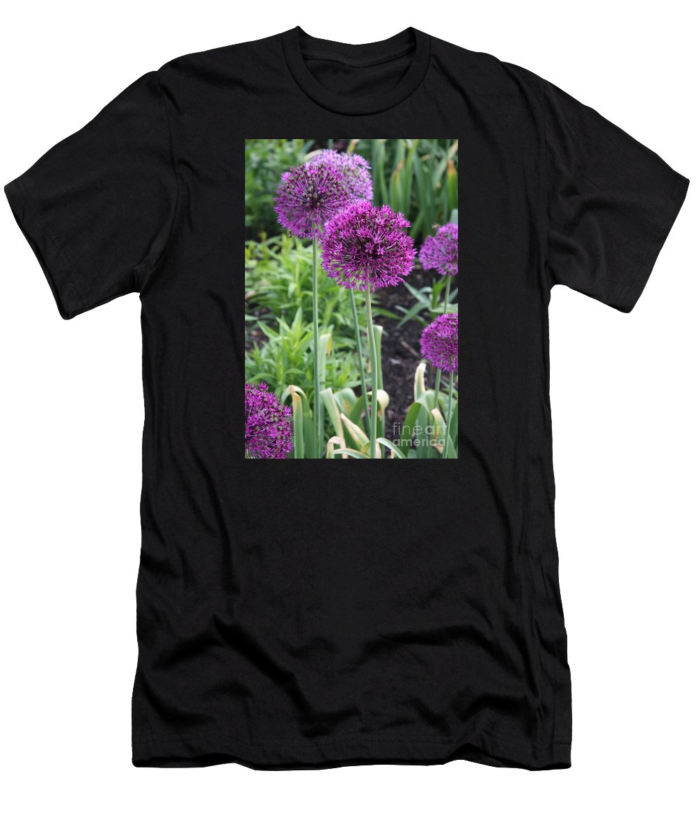Flowers Men's T-Shirt (Athletic Fit) featuring the photograph Ornamental Leek Flower by Christiane Schulze Art And Photography