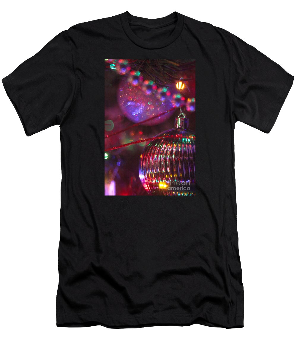 Merry Christmas Men's T-Shirt (Athletic Fit) featuring the photograph Ornaments-2052 by Gary Gingrich Galleries