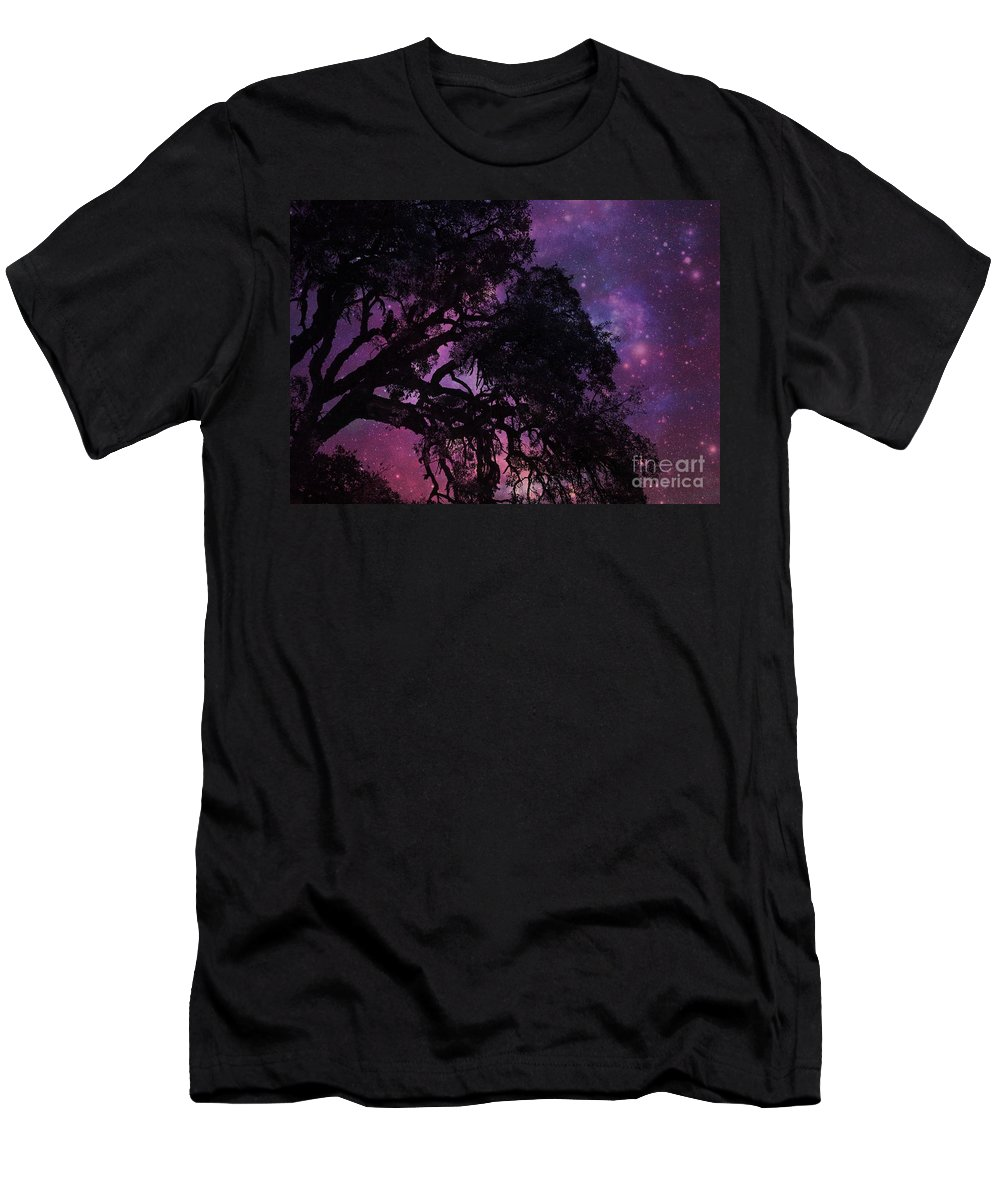 Tree Men's T-Shirt (Athletic Fit) featuring the photograph Our Amazing World by Clare Bevan