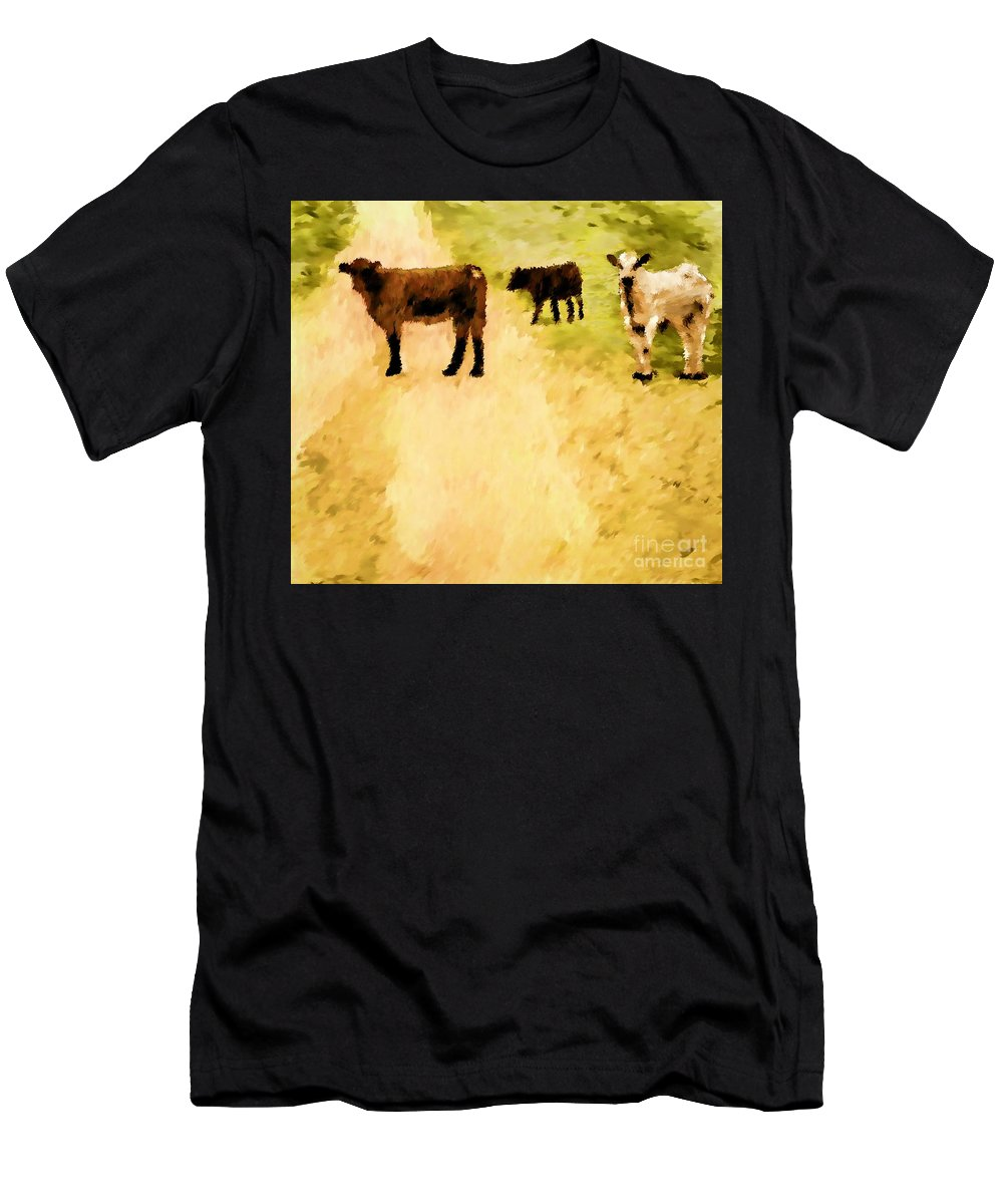 Digital Hand-drawn Painting Men's T-Shirt (Athletic Fit) featuring the painting Our Way Or The Highway P by Tim Richards