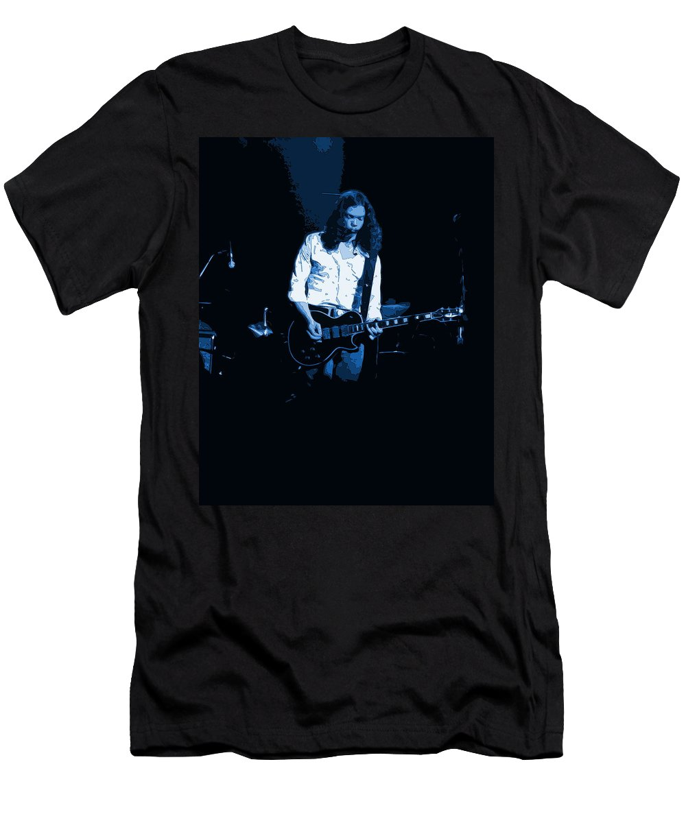 Outlaws Men's T-Shirt (Athletic Fit) featuring the photograph Outlaws #12 Art Blue 2 by Ben Upham
