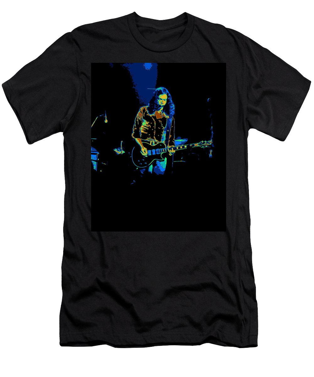 Outlaws Men's T-Shirt (Athletic Fit) featuring the photograph Outlaws #12 Art Psychedelic 2 by Ben Upham