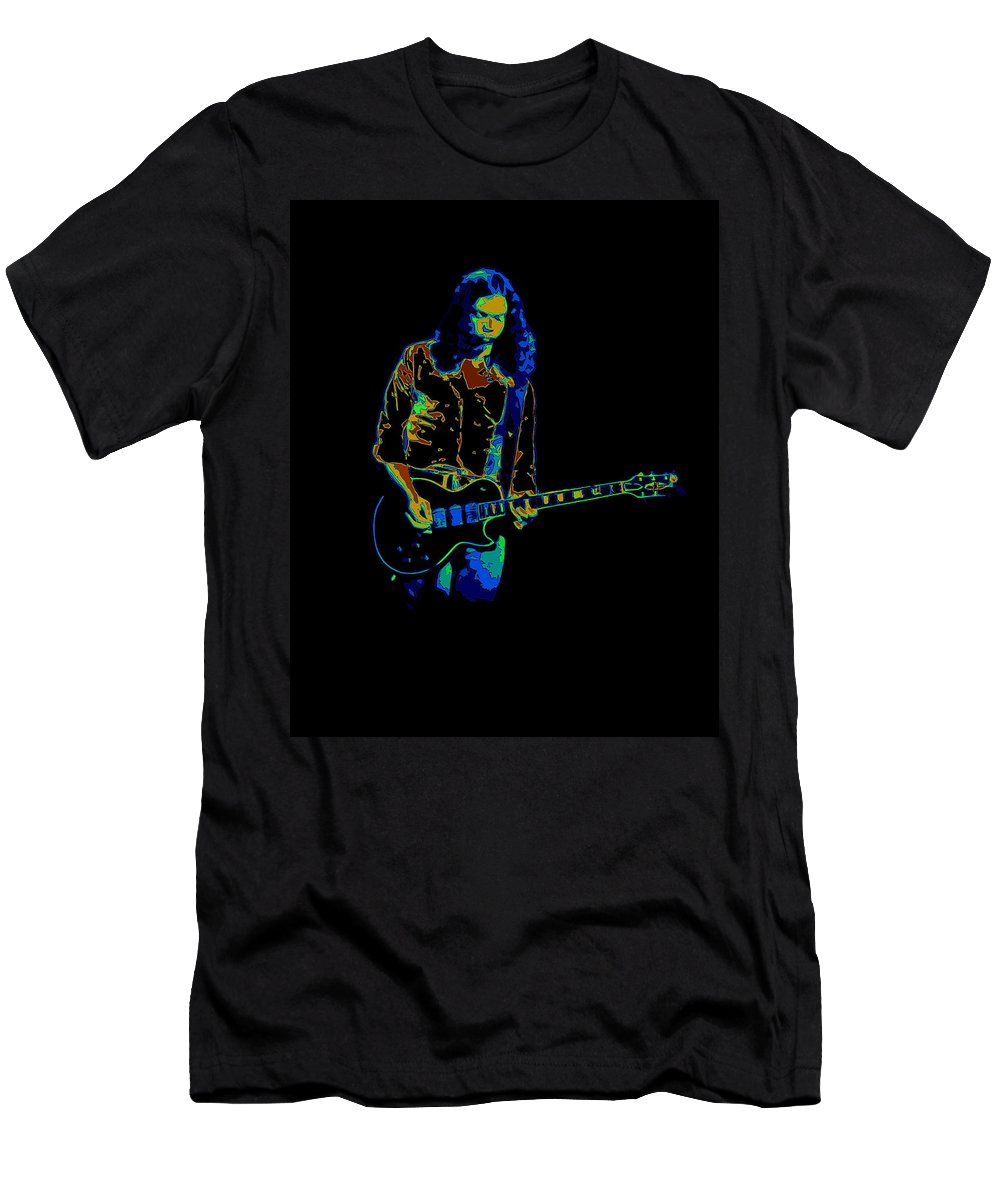 Outlaws Men's T-Shirt (Athletic Fit) featuring the photograph Outlaws #12 Art Psychedelic by Ben Upham