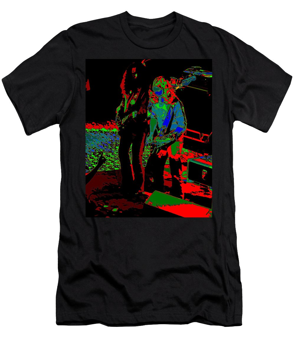 Outlaws Men's T-Shirt (Athletic Fit) featuring the photograph Outlaws #18 Art Psychedelic by Ben Upham