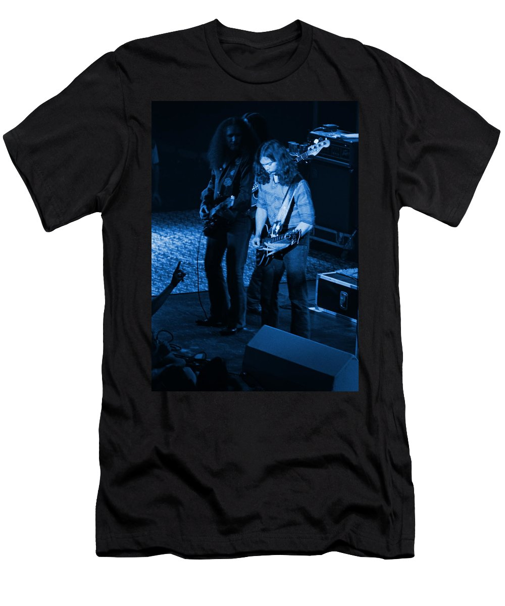 Outlaws Men's T-Shirt (Athletic Fit) featuring the photograph Outlaws #18 Blue by Ben Upham