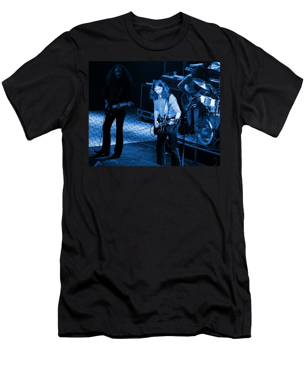 Outlaws Men's T-Shirt (Athletic Fit) featuring the photograph Outlaws #21 Crop 2 Blue by Ben Upham