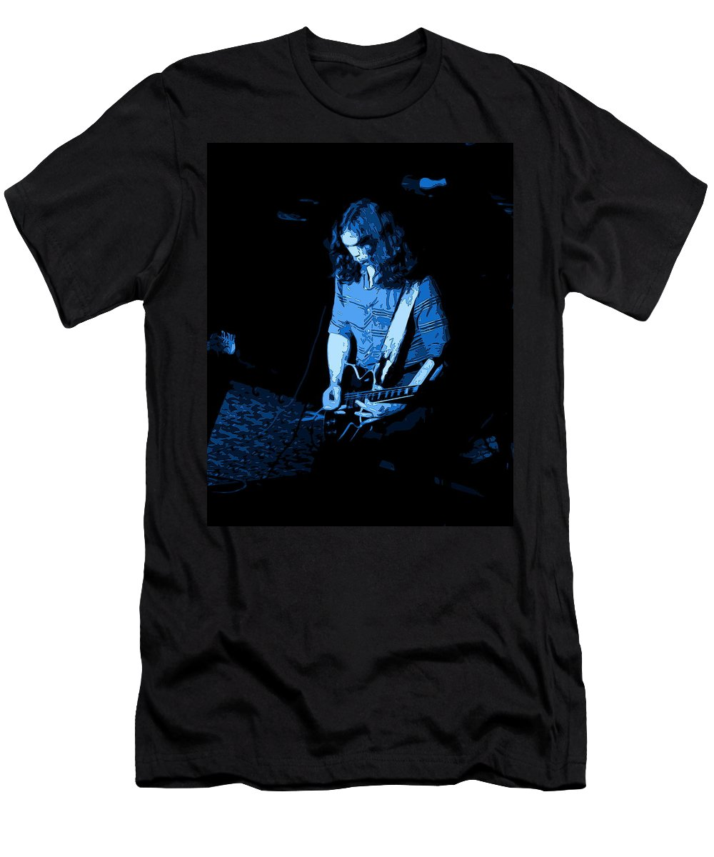Outlaws Men's T-Shirt (Athletic Fit) featuring the photograph Outlaws #22 Art Blue by Ben Upham