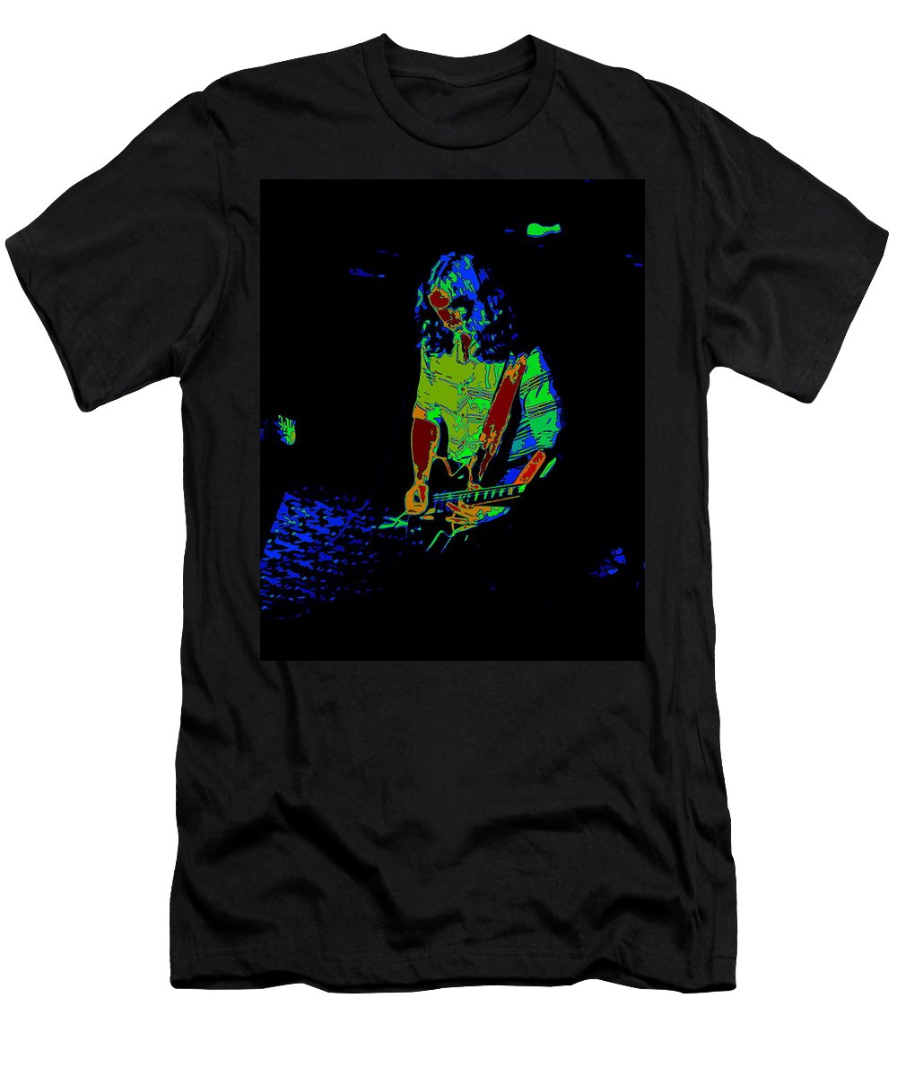 Outlaws Men's T-Shirt (Athletic Fit) featuring the photograph Outlaws #22 Art Psychedelic by Ben Upham