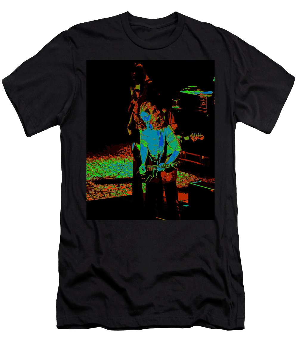 Outlaws Men's T-Shirt (Athletic Fit) featuring the photograph Outlaws #27 Art Psychedelic by Ben Upham