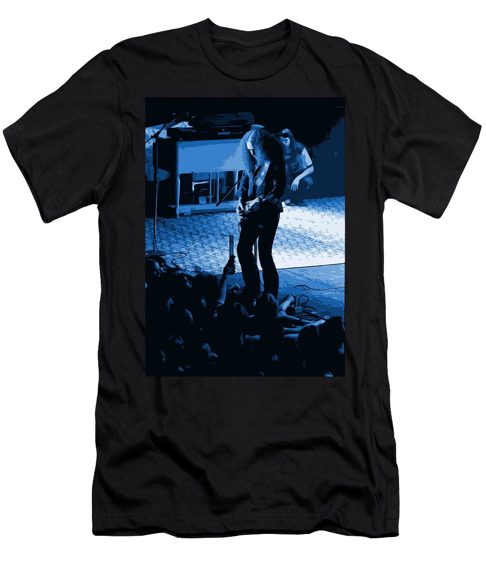 Outlaws Men's T-Shirt (Athletic Fit) featuring the photograph Outlaws #29 Art Blue by Ben Upham