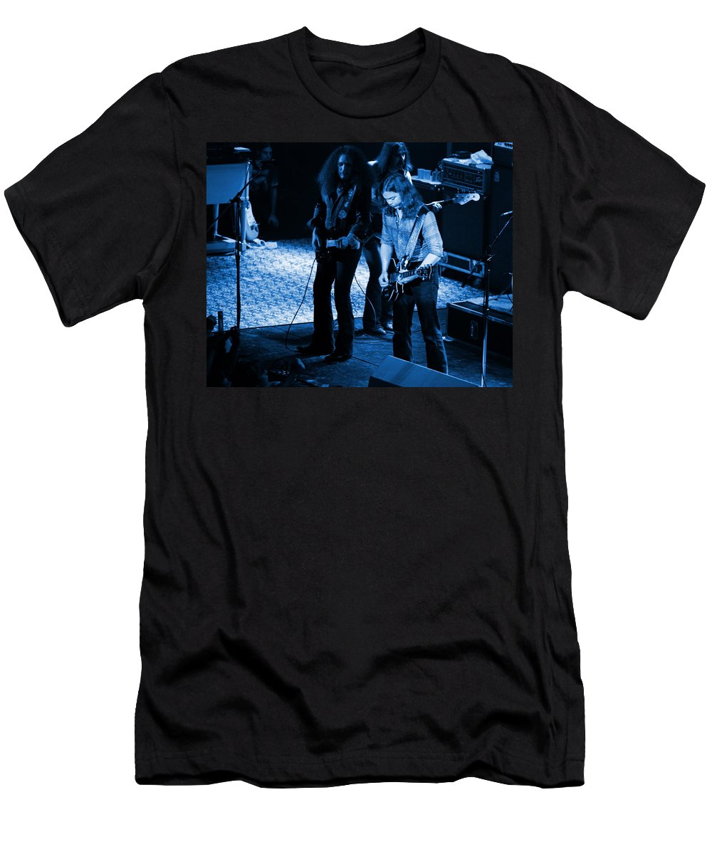 Outlaws Men's T-Shirt (Athletic Fit) featuring the photograph Outlaws #32 Crop 2 Blue by Ben Upham