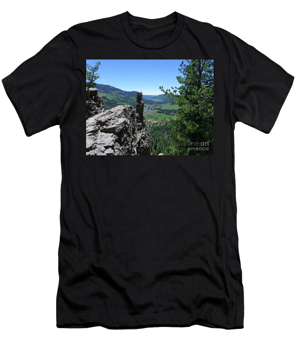 Colorado Men's T-Shirt (Athletic Fit) featuring the photograph Outlook From The Ridge by Charleen Treasures