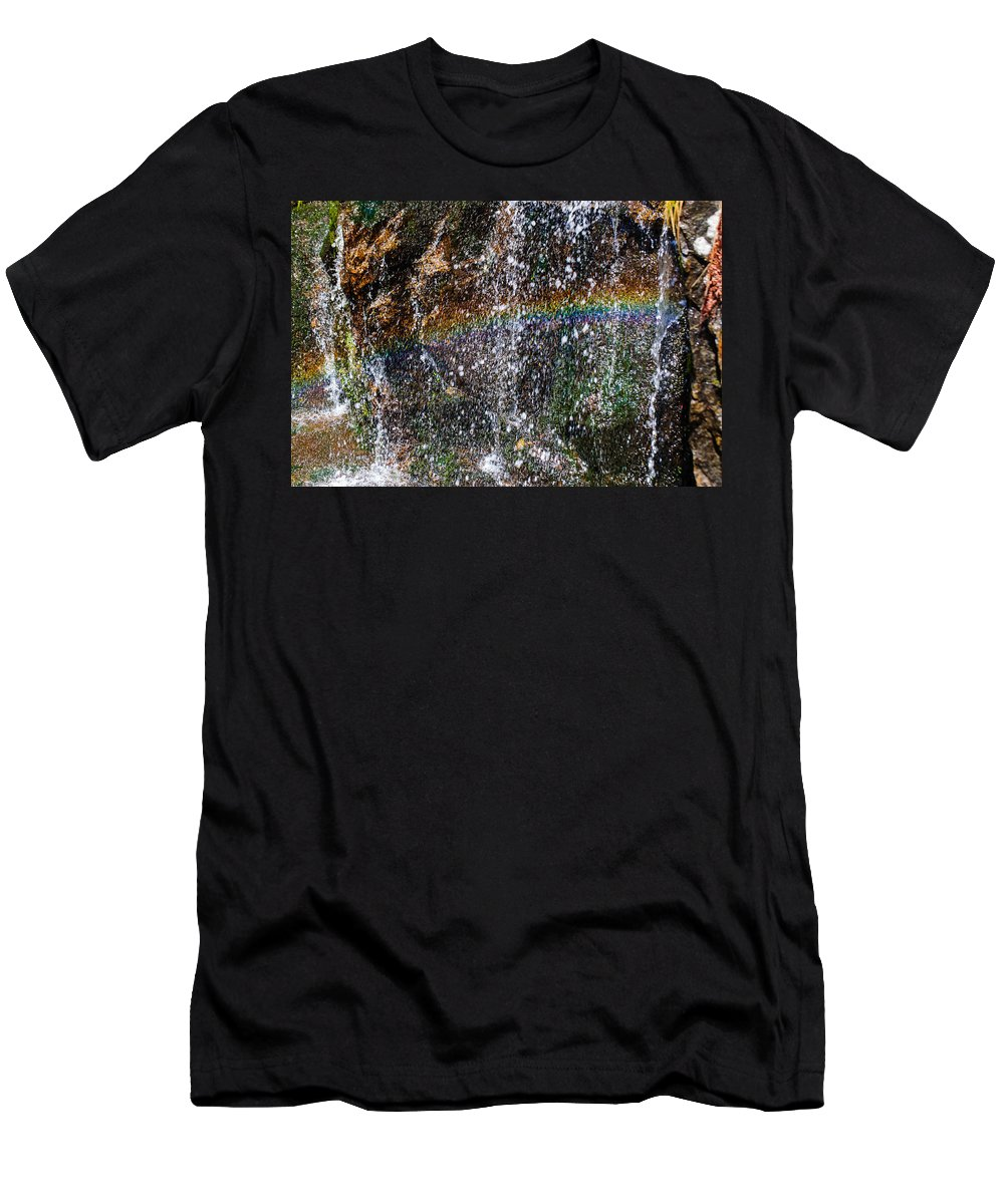 Christine Falls Men's T-Shirt (Athletic Fit) featuring the photograph Over The Rainbow by Tikvah's Hope