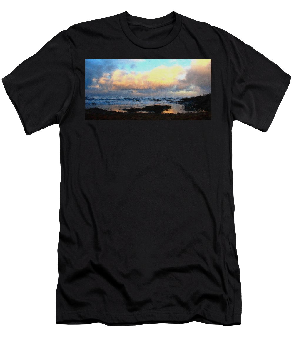 Pacific Men's T-Shirt (Athletic Fit) featuring the digital art Pacific Morning by Jenny Armitage