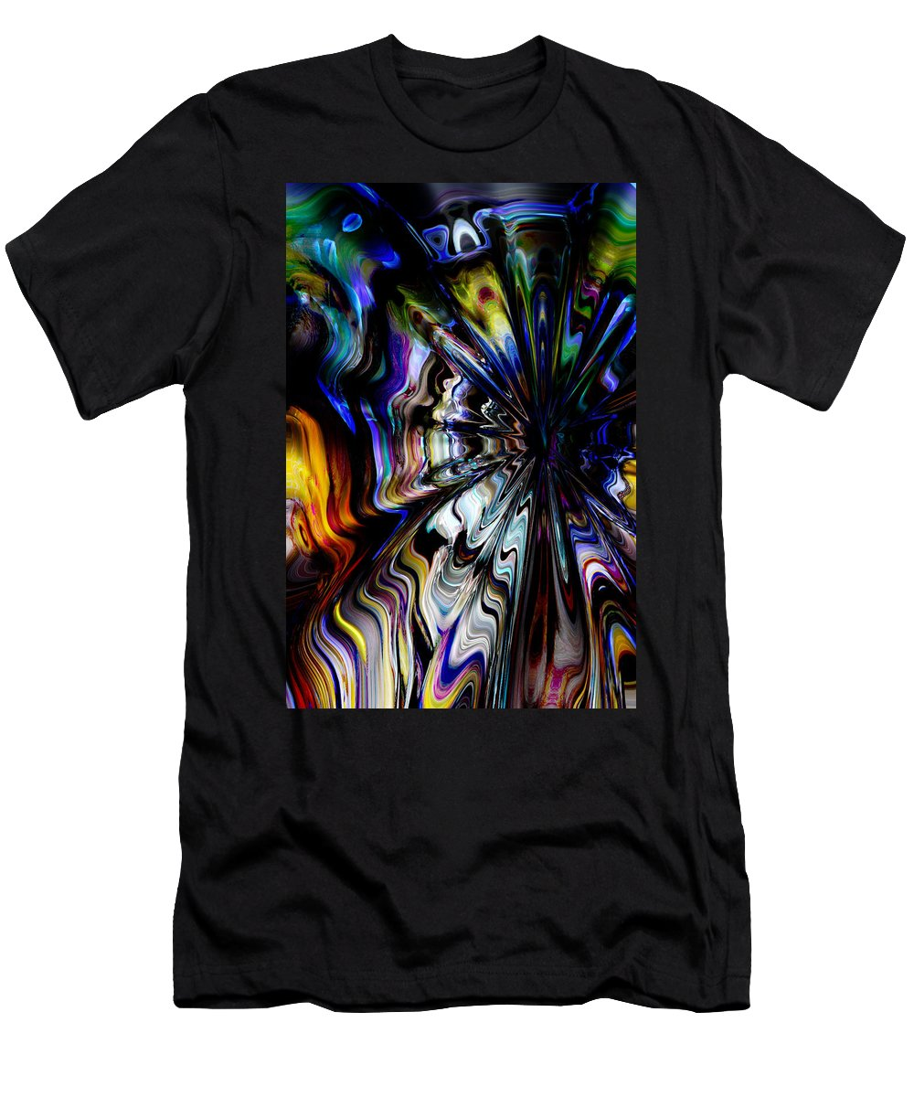 Abstract Men's T-Shirt (Athletic Fit) featuring the digital art Paf by Richard Thomas