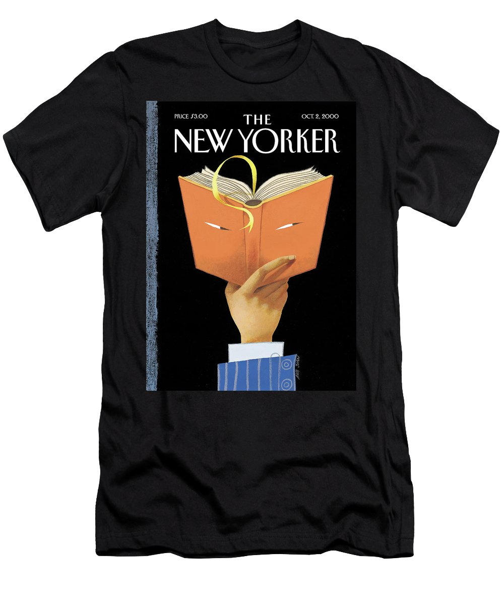 Page-turner T-Shirt featuring the painting Page-turner by Ana Juan