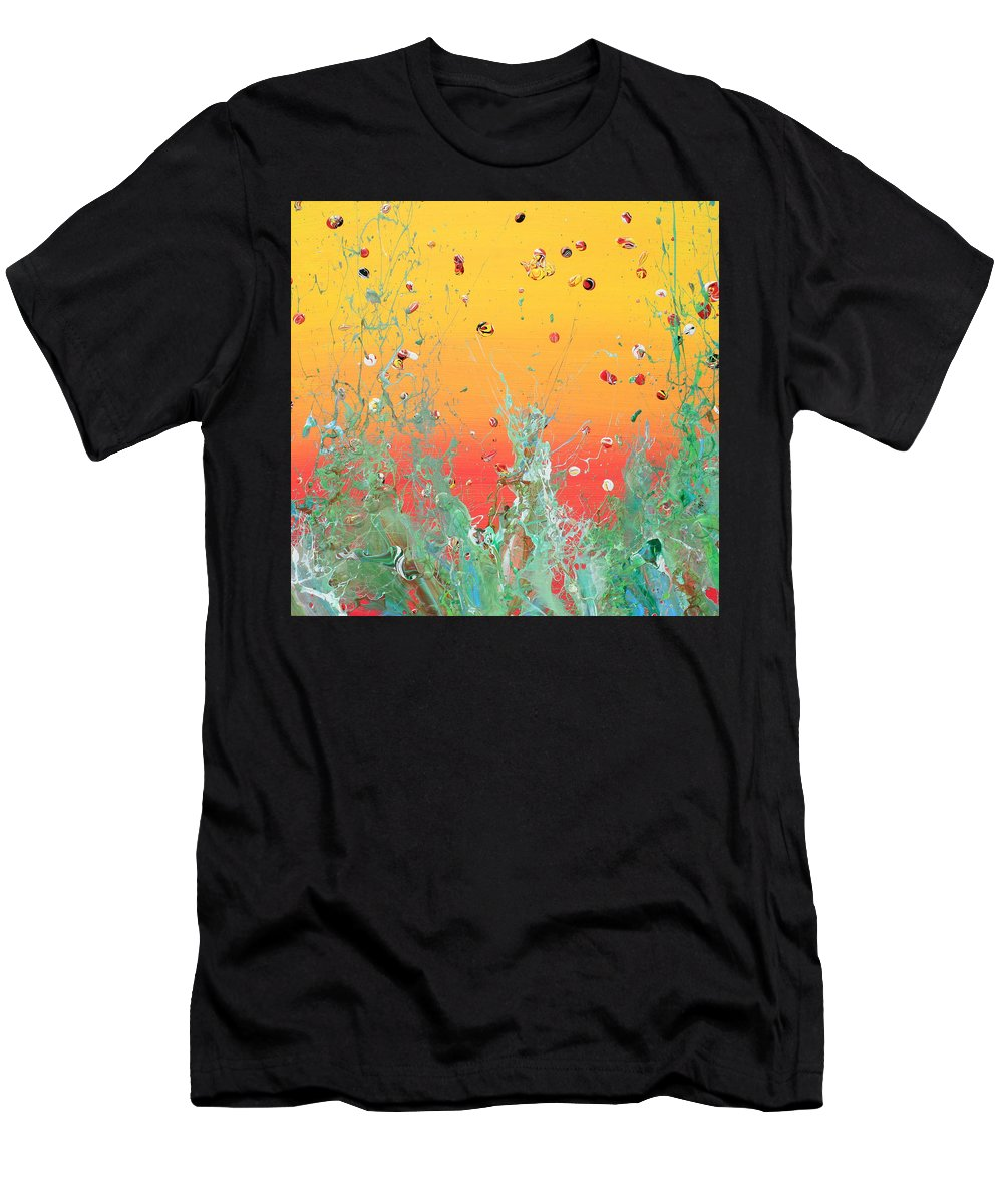 Acrylic Men's T-Shirt (Athletic Fit) featuring the painting Paint Number Ninteen Diptych by Ric Bascobert