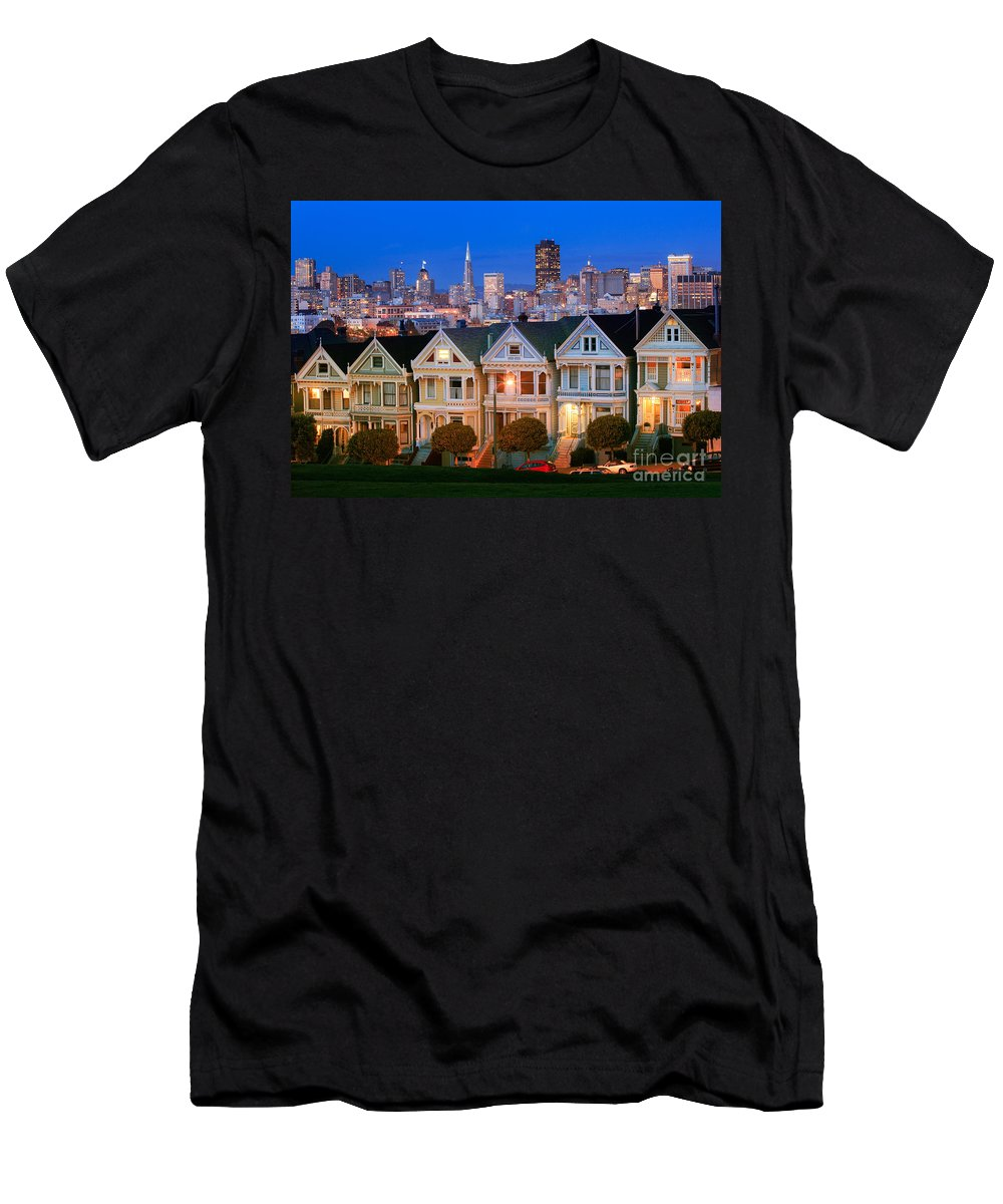 America Men's T-Shirt (Athletic Fit) featuring the photograph Painted Ladies by Inge Johnsson