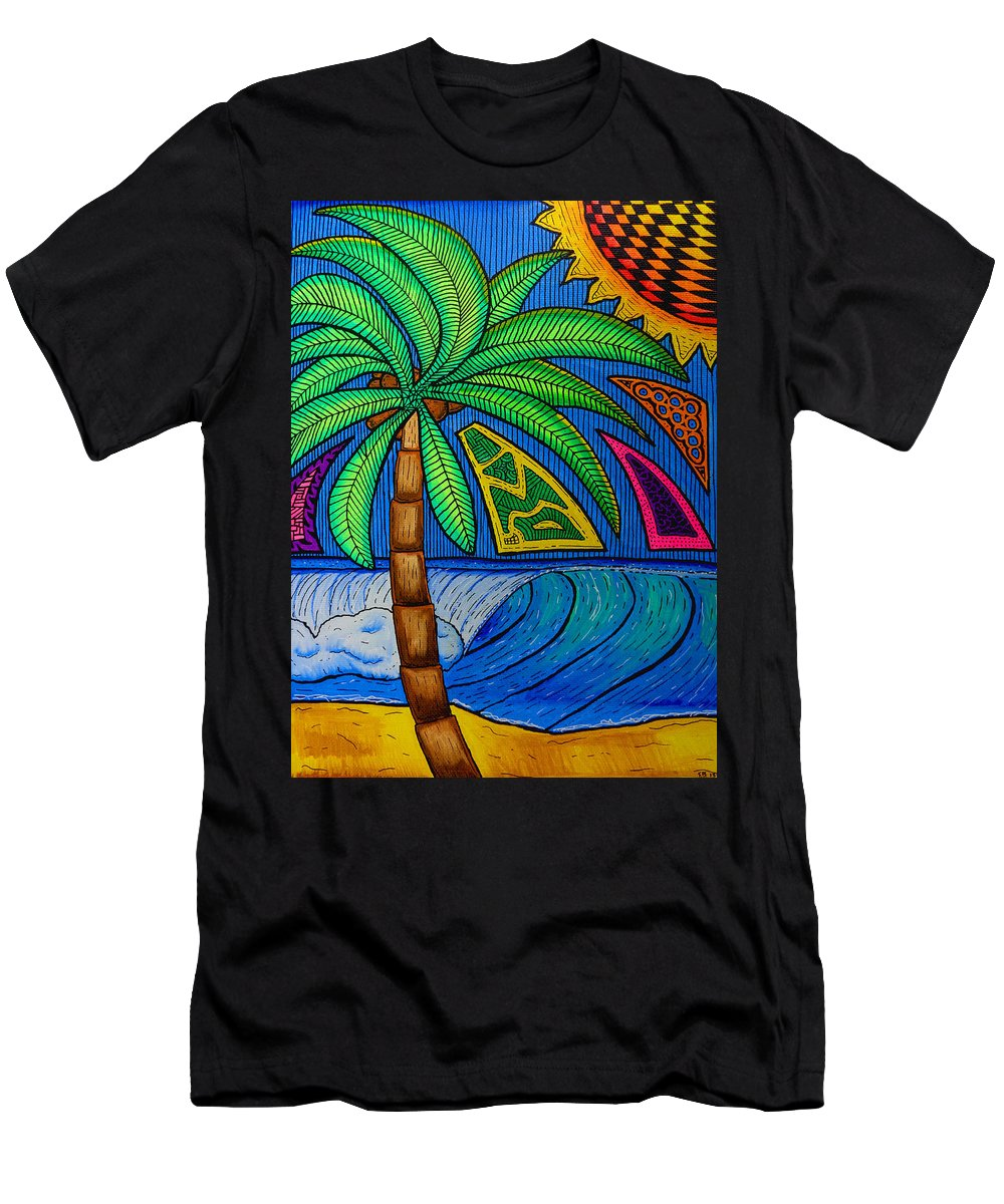 Palm Men's T-Shirt (Athletic Fit) featuring the painting Palm-a-thon by Sam Bernal