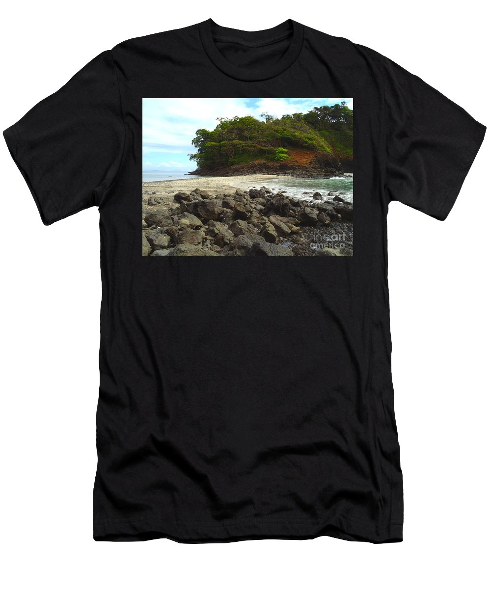 Island Men's T-Shirt (Athletic Fit) featuring the photograph Panama Island by Carey Chen