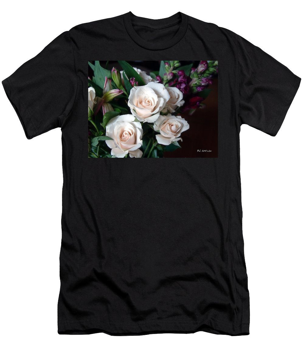 Flowers Men's T-Shirt (Athletic Fit) featuring the photograph Pardon My Blush by RC DeWinter