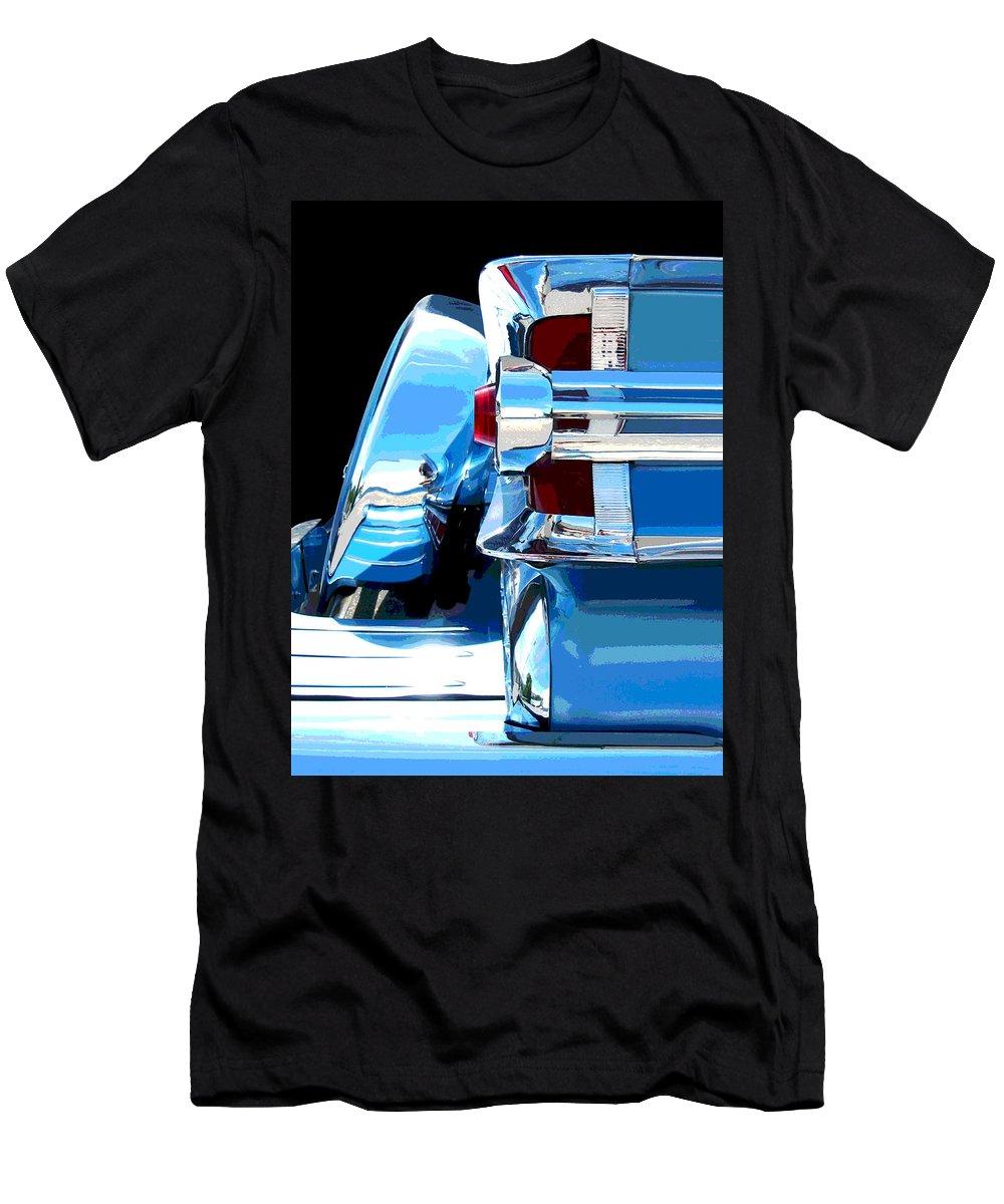 Mercury Men's T-Shirt (Athletic Fit) featuring the photograph Park Lane Chrome -posterized by Larry Hunter