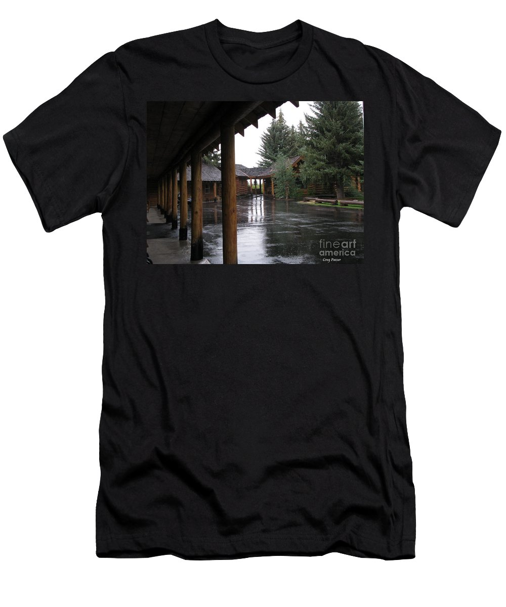 Patzer Men's T-Shirt (Athletic Fit) featuring the photograph Parking Lot by Greg Patzer