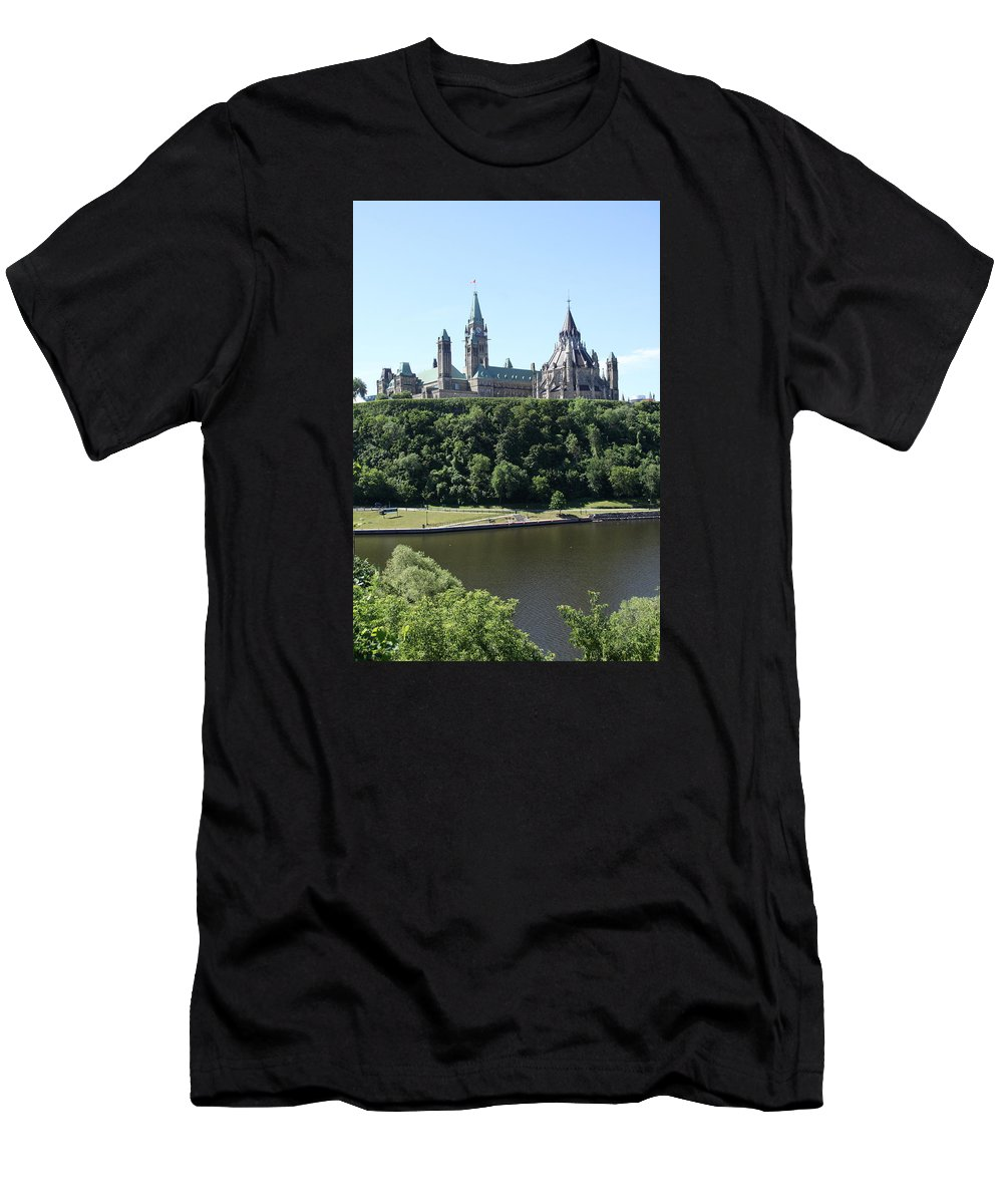 Parliament Hill Men's T-Shirt (Athletic Fit) featuring the photograph Parliament Hill - Ottawa by Christiane Schulze Art And Photography