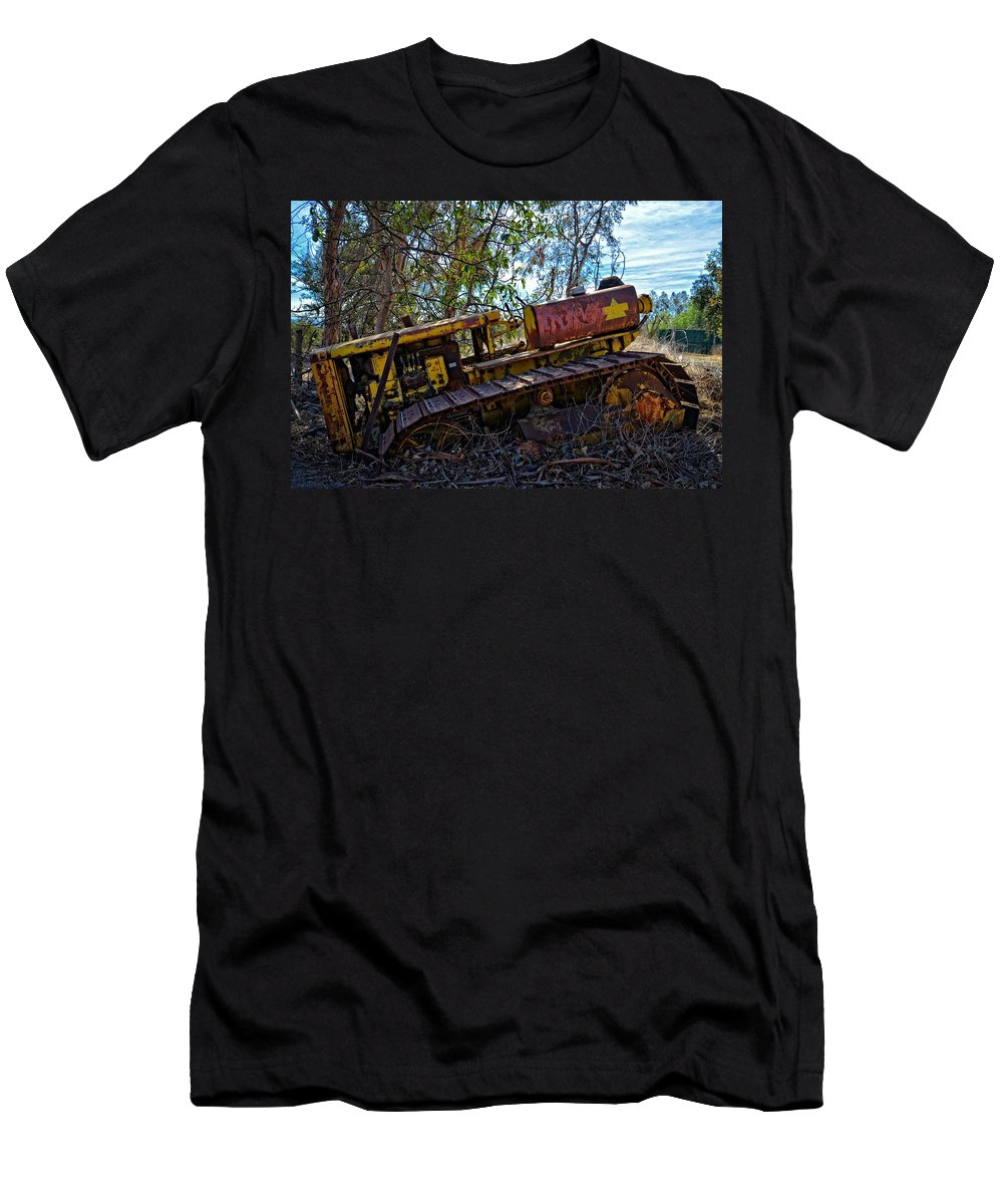 Tractor Men's T-Shirt (Athletic Fit) featuring the photograph Past It's Prime by Lynn Bauer