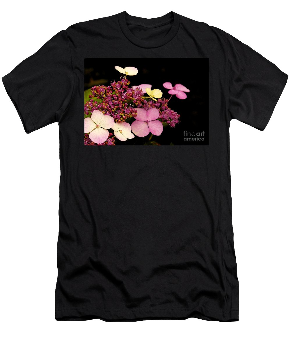 Flowers Men's T-Shirt (Athletic Fit) featuring the photograph Pastels From Anna by Linda Shafer