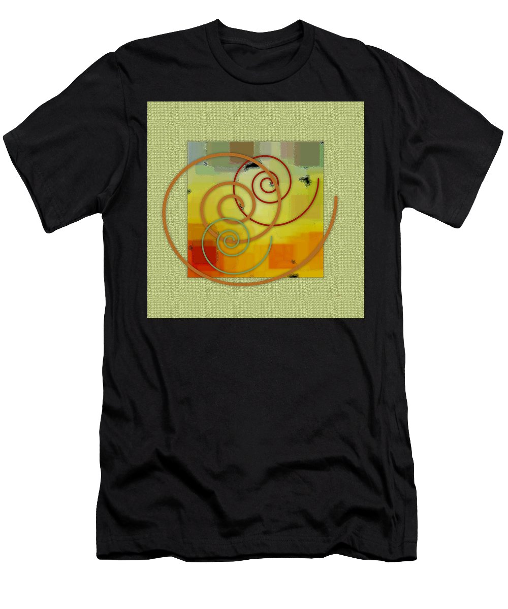 Abstract Men's T-Shirt (Athletic Fit) featuring the digital art Patchwork I by Ben and Raisa Gertsberg