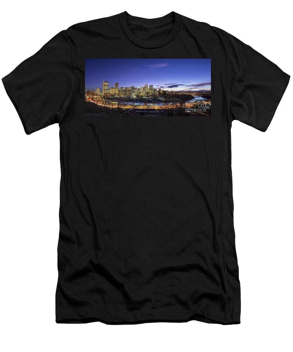 Calgary Men's T-Shirt (Athletic Fit) featuring the photograph Path Of Glory by Evelina Kremsdorf