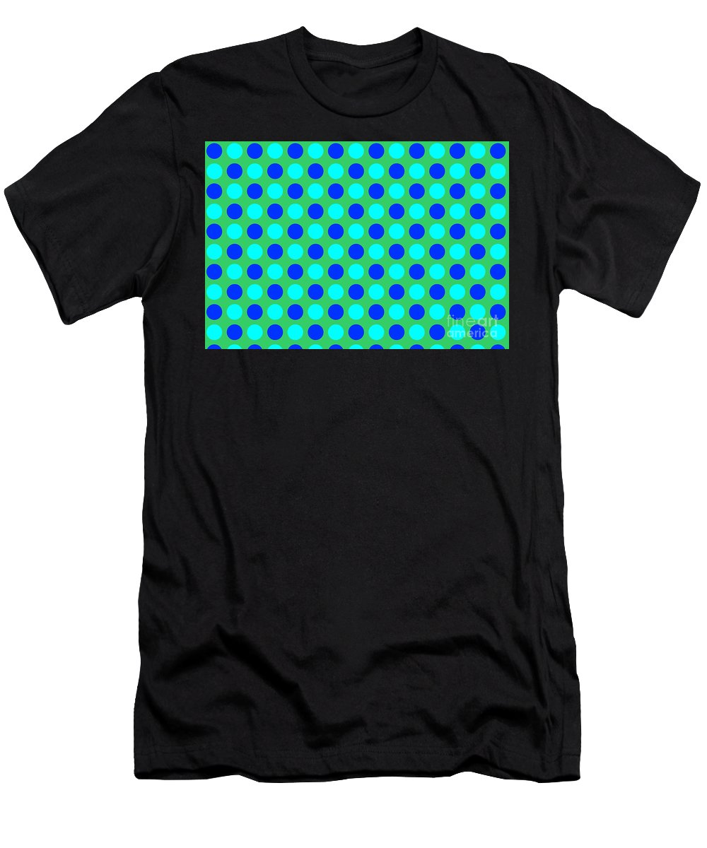 Blue Men's T-Shirt (Athletic Fit) featuring the tapestry - textile Pattern Of Circles by Lali Kacharava
