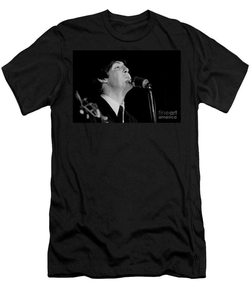 Beatles T-Shirt featuring the photograph Paul Mccartney, Beatles Concert, 1964 by Larry Mulvehill